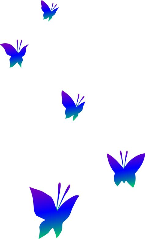 free butterfly clipart purple blue and green butterflies free clip