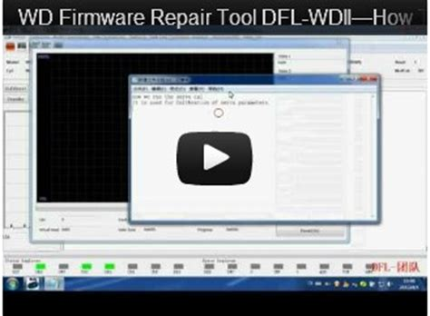 tutorial video repair tool wd hdd repair tools dfl wdii video tutorials dolphin