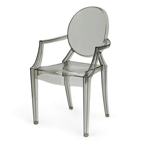 louis ghost armchair smoke grey ghost style louis armchair buy online grey
