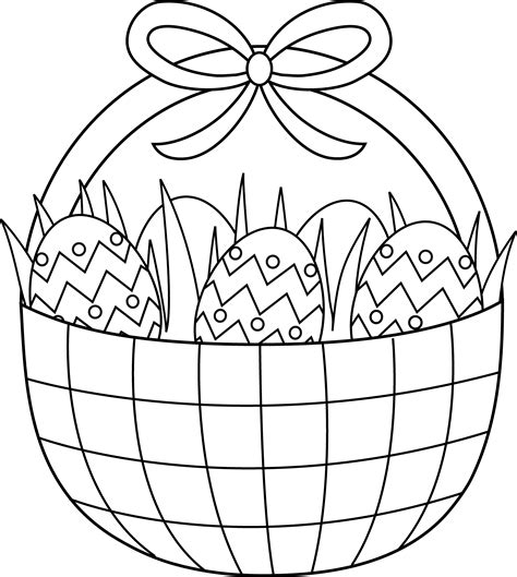 coloring pages for easter basket easter basket coloring page free clip