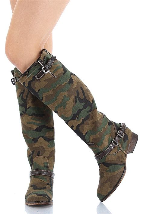breckelle camouflage knee high boot outlaw 91 ebay