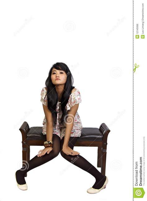 Model Sitting On Chair by Model Sitting On Chair Royalty Free Stock Image Image 12145066