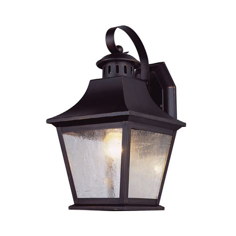Outdoor Light Lowes Shop Portfolio 11 In H Rubbed Bronze Outdoor Wall Light At Lowes