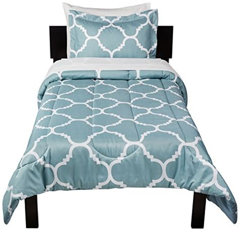 xl twin bed in a bag amazonbasics 5 piece bed in a bag twin twin extra long dusty blue trellis desertcart