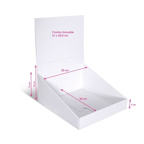 Presentoir Comptoir by Pr 233 Sentoir En 28x30 Cm Blanc Sans Impression Plv