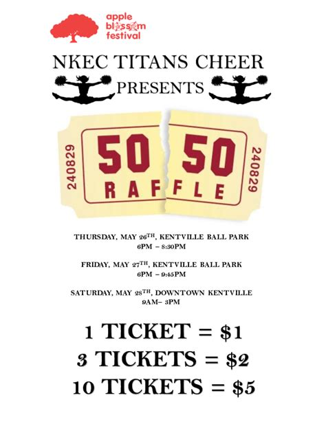 50 50 Tickets At Downtown Kentville May 28 2016 9am 50 50 Raffle Flyer Template Free