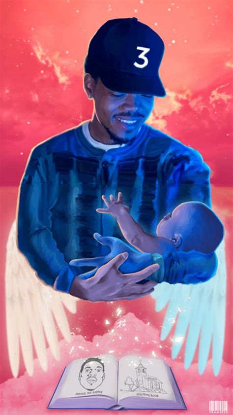 coloring book chance 3 kwamworks chance the rapper chance 3 iphone wallpaper