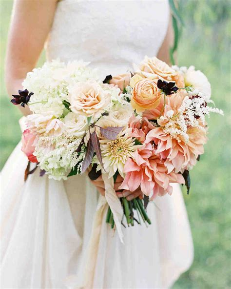 Fall Flower Arrangements Wedding by 53 Gorgeous Fall Wedding Bouquets Martha Stewart Weddings