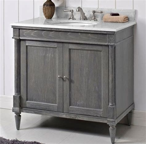 Rustic Chic Bathroom Vanity by Fairmont Vanity Rustic Chic 36 Quot Silvered Oak Bath