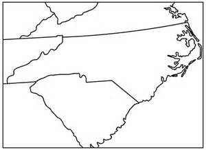 How To Draw The Outline Of Carolina by Nc Sc Map Outline