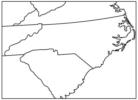 Carolina Outline by Nc Sc Map Outline