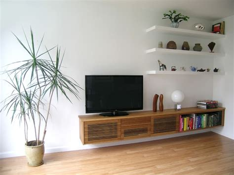floating media shelves floating media cabinet and shelves contemporary living