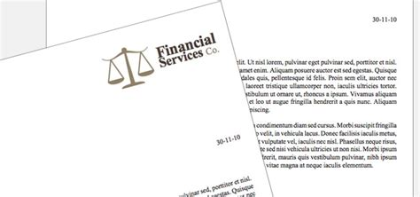 Financial Letterhead Letterhead Financial Company Theme Istudio Publisher Page Layout Software For Desktop