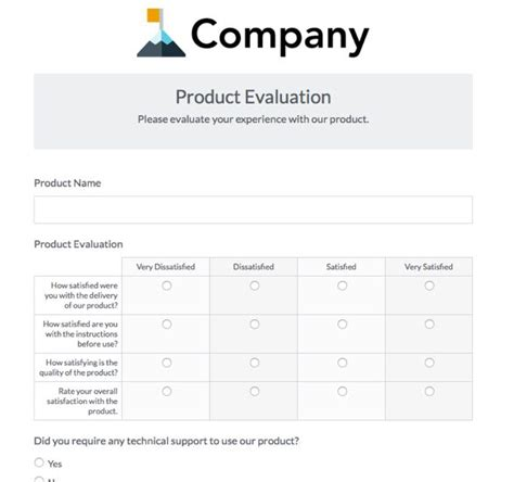 Gathering Customer Feedback To Improve Your Bottom Line 183 Formstack Blog Product Evaluation Form Template