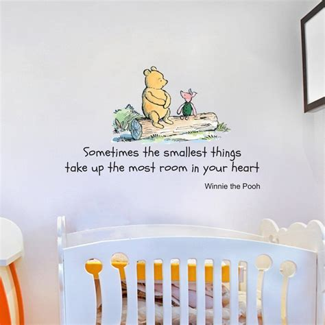 large winnie the pooh wall stickers disney winnie the pooh quote large wall sticker decal