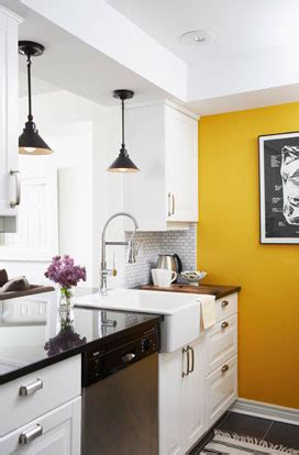 yellow kitchen walls with white cabinets yellow accent walls on pinterest navy yellow bedrooms