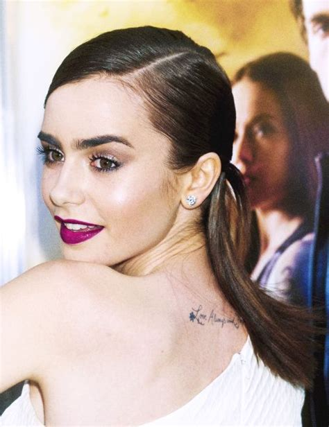 lily collins tattoo 78 best collins eyebrows images on