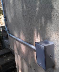 how to attach emt offset connector to weatherproof box