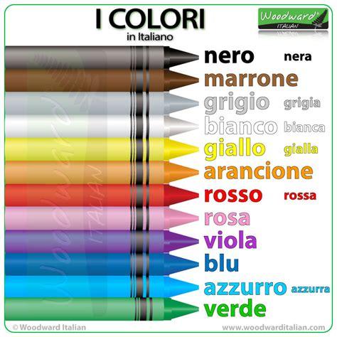 in italian colors in italian italian