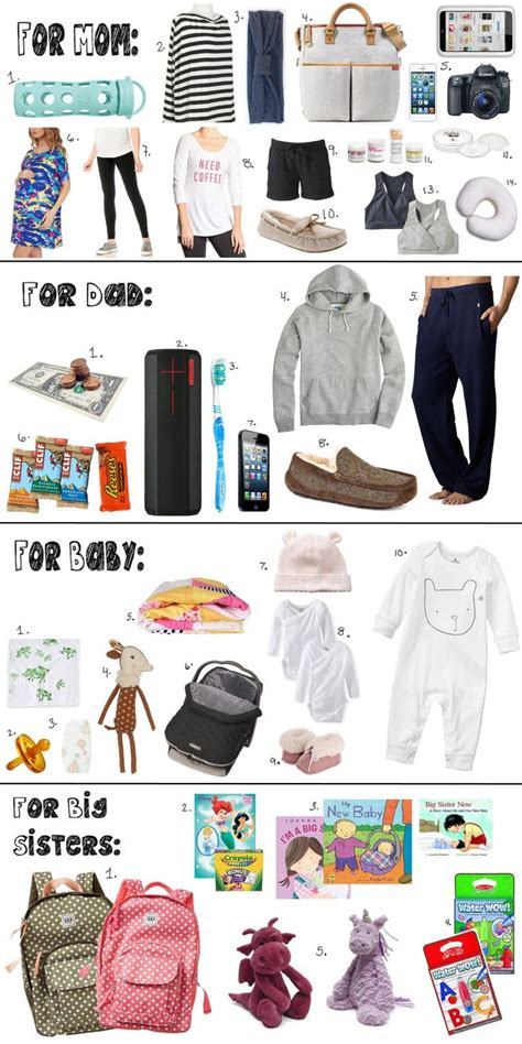 what to pack in hospital bag for c section 25 best ideas about hospital bag checklist on pinterest