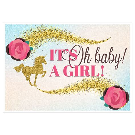 Baby Shower S by Gold Unicorn Baby Shower It S A Banner Backdrop