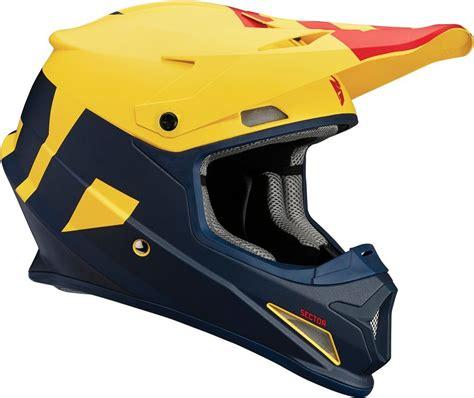 motocross helmet with visor 109 95 thor sector level dot approved mx motocross 1022753