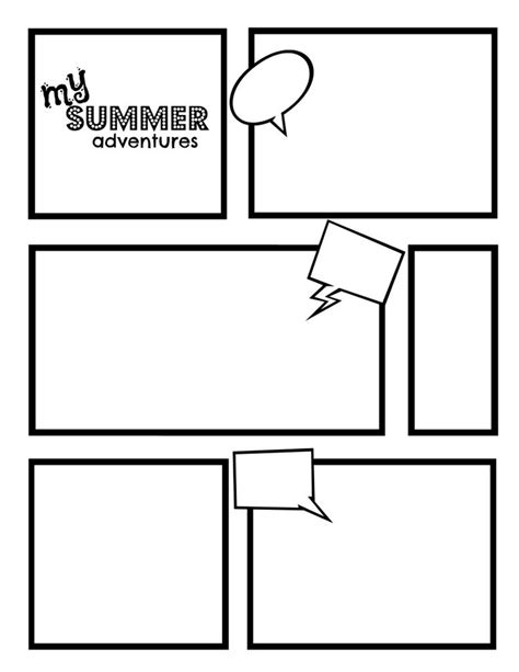 Comic Strip Template Best Template Collection Classroom Pinterest Words Best Templates Comic Template Maker