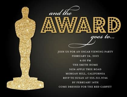 academy awards invitation template award invitation template awards invitation template oscar