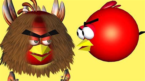 Kaos 3d Umakuka Angry Bird angry birds meet bigfoot sasquatch bird 3d animated mashup funvideotv style