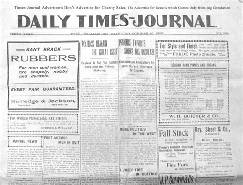 daily times journal 10 october 1903