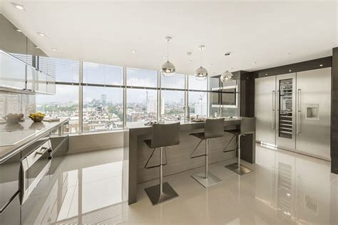 Luxury London Penthouse Apartment   Contemporary   Kitchen