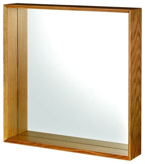 Oak Bathroom Mirror Croydex Wa683376 Wall Mirror In Oak Traditional