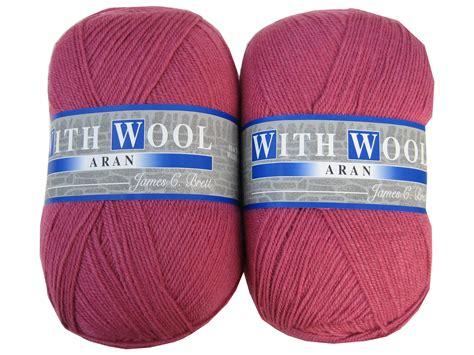 400g aran knitting yarn 2 x 400g balls brett aran knitting yarn machine