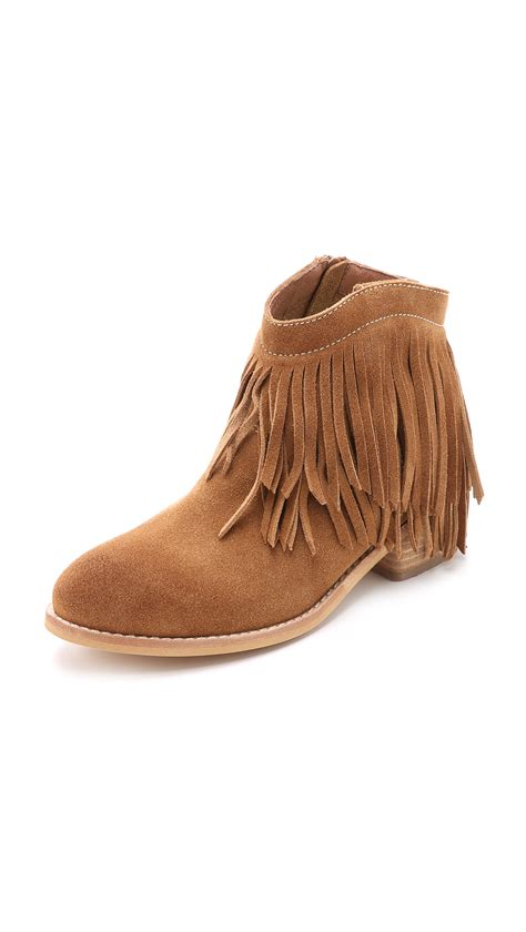 fringe booties jeffrey cbell chafee suede fringe booties in