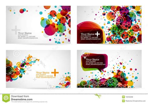 Business Card Templates Stock Vector Illustration Of Graphic 15042268 Templates For Cards Free