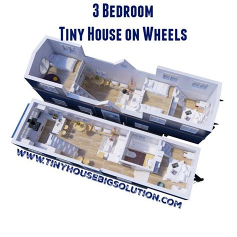 3 bedroom tiny house 3 bedroom tiny house on wheels tiny house pinterest