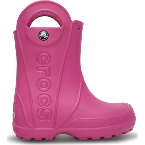 crocs handle it boots crocs handle it boot fuchsia easy on wellington