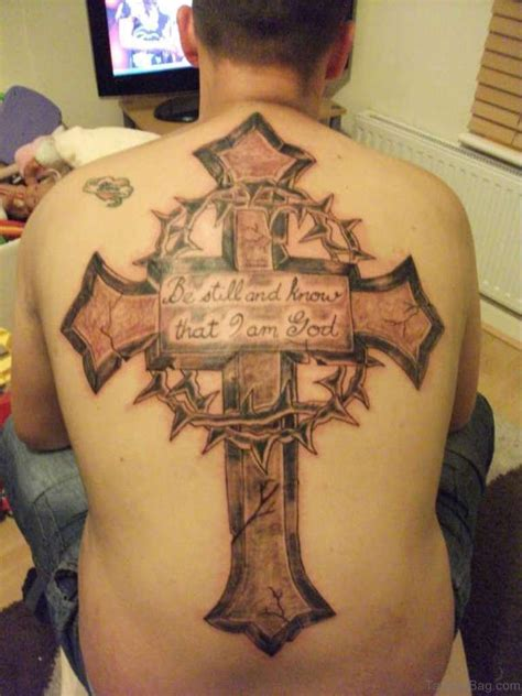 cross tattoos on the back 44 cross tattoos on back