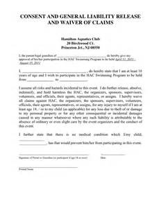 General Liability Release Form Template by General Consent Form Template Search Engine At