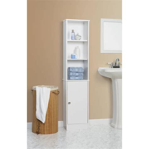 wooden tall storage cabinet bathroom white linen tower furniture towel organizer ebay