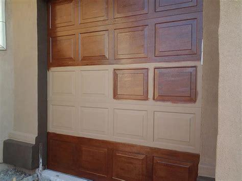 faux garage door ideas faux wood garage doors home design by fuller