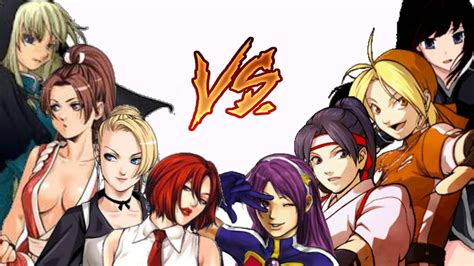 8 Who Are Ultimate Girlpower by Kof Mugen New Fighters Team Vs Power