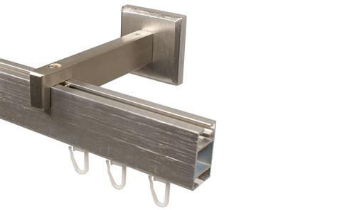 gardinenstange innenlauf 2 laufig edelstahl edelstahl optik gardinenstangen im eckdesign