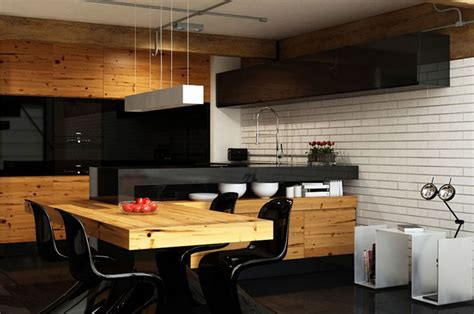 Modern Apartment Kitchen Table Apartment Kitchen With Dining Table Interior