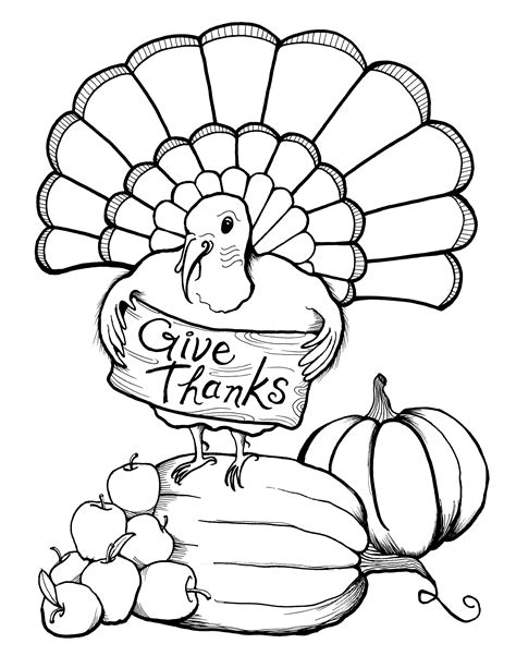 7 best images of thanksgiving coloring printables