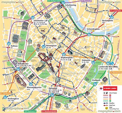 printable map prague vienna map ubahn underground subway metro stations tram