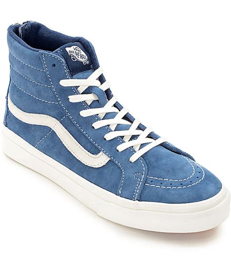 Vans Sk8 Navy vans sk8 hi slim scotchgard navy shoes