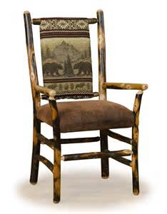Sku dc06073 categories log dining chairs rustic hickory dining