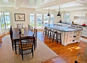 Kitchen island with sink storage and sitting area all opened up into