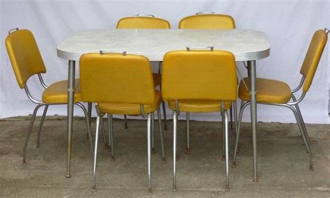 1960 Kitchen Table And Chairs Retro Vintage Rectangle Formica Kitchen Dining Table 6 Chairs 1960 S